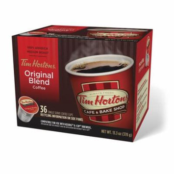 Tim Hortons Original Ground Coffee Single Serve Cups, Medium Roast, 36 Ct