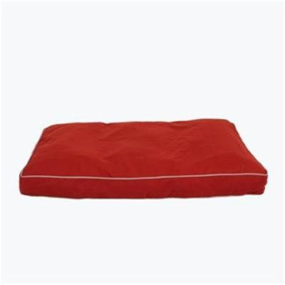Carolina Pet 012180 Classic Canvas Rectangle Poly Fill Jamison Pet Bed - Barn Red with Khaki Cord, Medium