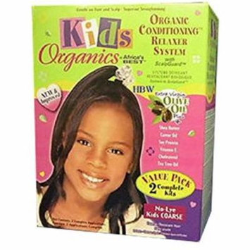 6 Pack - Africa's Best Kids Organic Relaxer Coarse Value Pack 1 ea