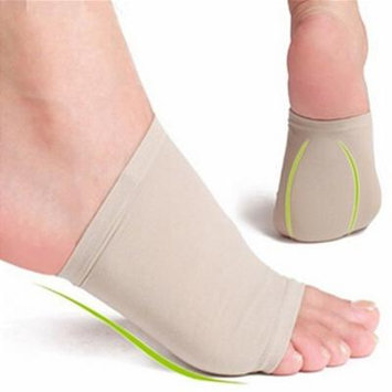 Girl12Queen New Gel Arch Support Cushion Plantar Fasciitis Pain Relief Foot Sleeve Sock