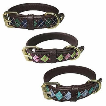 Halo Buffy Leather Dog Collar Medium White/Hunter