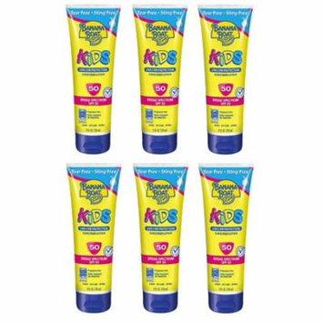 Banana Boat Kids UVA/UVB Protection Sunscreen Lotion, Broad Spectrum, SPF 50, 8 Oz (Pack of 6)