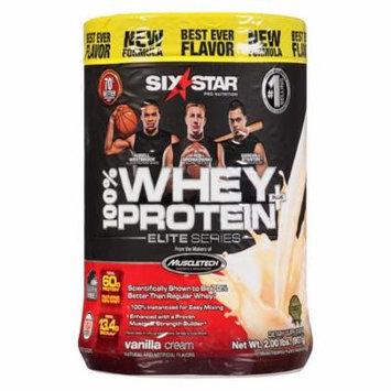 Six Star Elite Series Whey Protein+ Dietary Supplement Powder Vanilla Cream2.0 lb(pack of 3)