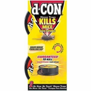 2pc d-CON No View No Touch Mouse Trap Conceals Dead Rodent 2PK