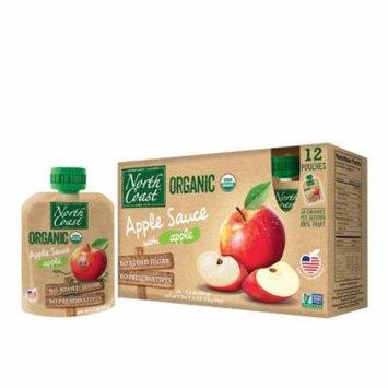 North Coast Organic Apple Sauce 12 Pk Pouches 38.4 oz (Pack of 8)