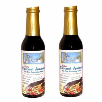 Coconut Secret Coconut Aminos Two 100% Organic and Raw 8oz Soy Free Soy Sauce Replacement