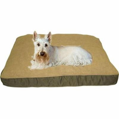 Carolina Pet 012030 Four Season Poly Fill Jamison Pet Bed with Cashmere Berber Top & Contrast Cording - Sage with Khaki Cord, Small
