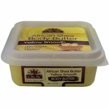 6 Pack - Okay African Shea Butter Yellow Smooth Body Butter 8 oz