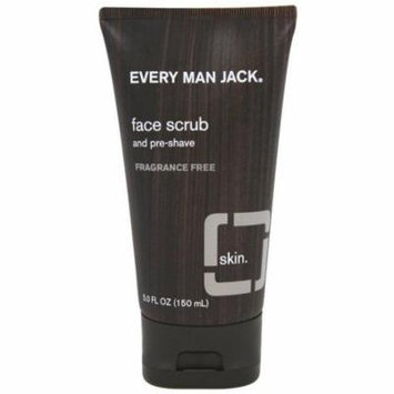 3 Pack - Every Man Jack Face Scrub, Fragrance Free 5 oz