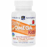 Nordic Naturals, Daily Omega Kids, Natural Fruit Flavor, 500 mg, 30 Soft Gels(pack of 3)
