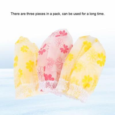 TMISHION 3PCS/Set Floral Pattern Hair Washing Shower Shampoo Hat Cap Shield Eye Ear Protection ,Shampoo Cap, Wash Hair Shield