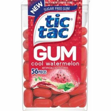 Tic Tac Mint Gum, Cool Watermelon, 56 Ct, (Pack of 12)