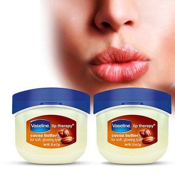 Ghtn 2 Vaseline Therapy Lip Balm 0.25 Oz Cocoa Butter Flavor Petroleum Jelly Mini Jar