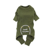 Sweet Dreams Thermal Dog Pajamas by Doggie Design - Herb Green Large
