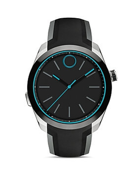 Movado Men's Swiss Bold Motion Black Silicone Strap Smartwatch 44mm 3660001