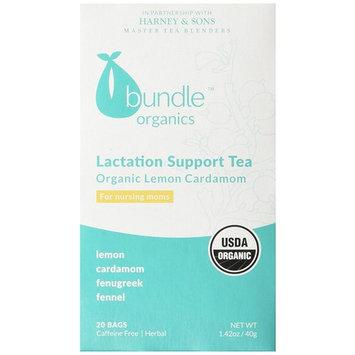Bundle Organics Lactation Support Tea,Caffeine Free Lemon Cardamom, 20 Count (Pack of 6)
