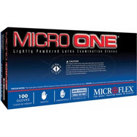 Microflex MO150L Lightly Powdered Micro-One Latex Glove Size Large, 100 Box