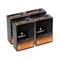 6V 2.8AH SLA Battery for SR Instruments SR210 Scale - 4PK