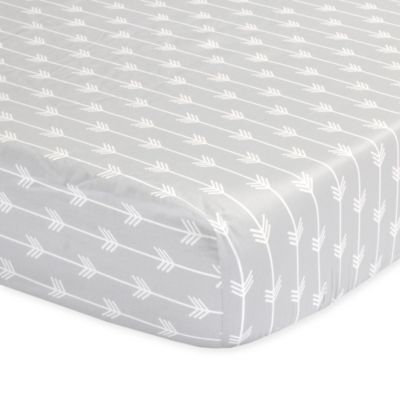 The Peanut Shell® Arrows Fitted Crib Sheet in Grey