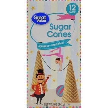 Great Value Sugar Cones, 12 count