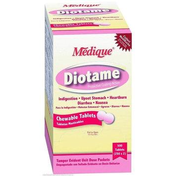 Medique DioTame Upset Stomach Relief Chewable Tablet, 400 Tablets MS-71190