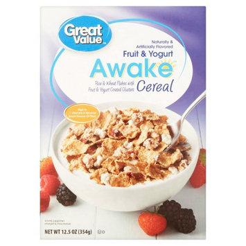 Wal-mart Stores, Inc. Great Value Awake Fruit & Yogurt Cereal, 12.5 oz