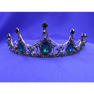 Emerald Green Princess Crystal Rhinestone Tiara Crown CT47