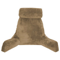 Tan COVER ONLY -For the Husband Pillow - Bedrest - Reading & Support Bed Backrest with Arms