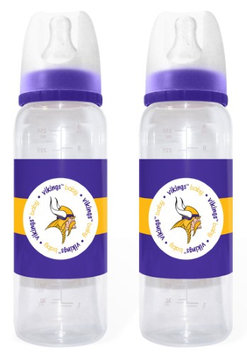Cd Minnesota Vikings Baby Bottles - 2 Pack-(Package of 2)