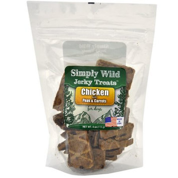 Simply Wild USA Jerky Treats - Chicken with Peas & Carrots (4 oz)