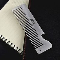Creative 304 stainless steel comb anti-static green comb