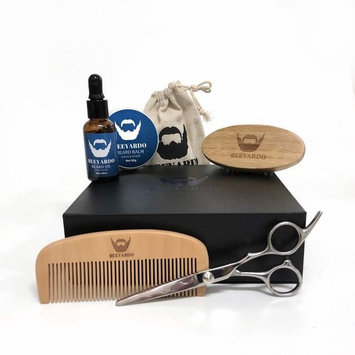 Beard & Mustache Grooming/ Trimming Kit for Men - With Unscented Beard Oil - Beard Comb & Brush Set - Heavy Duty Balm/Wax Barber Scissors for professional Hair Cutting (Unscented Balm)