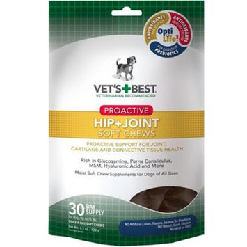 Vet's Best Proactive Hip + Joint Soft Chews [Options : 30 count]