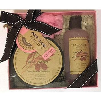 Cherry Blossom Bath and Body Care 3 Piece Box Set