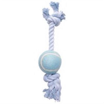 Hagen Dogit Blue Cotton Rope Bone w/Tennis Ball 12 in
