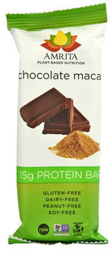 Amrita Health Foods Chocolate Maca Recovery Bars 2.12 oz - Vegan