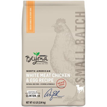 Purina Beyond Small Batch Grain-free North American Beef and Egg Recipe Dry Dog Food - 4.5 lb. Bag, Pack of 4