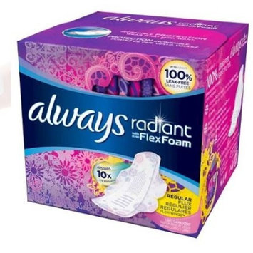 Always Radiant Infinity Pads with Flexi-Wings Fresh Scent w/FlexFoam - 15 Count (2 Pack) Regular