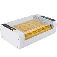 24 Fully Egg Incubator, Estink Automatic Hatcher Auto-Turning Temperature Control for Chicken, Goose, Birds Duck Eggs
