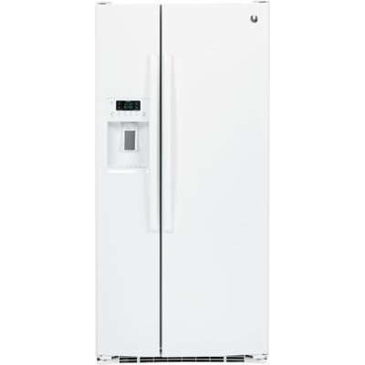 GE GSE23GGKWW 22.5 Cu. Ft. White Side-By-Side Refrigerator - Energy Star