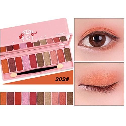 10 Colors Cosmetic Powder, Smoky Eyeshadow Palette Makeup Set Matt Available