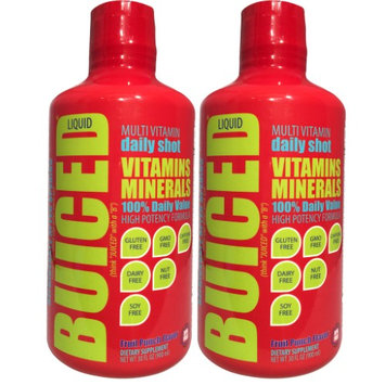 BUICED Liquid Multivitamin Fruit Punch - 2 Pack, Gluten Free, GMO Free, Allergen Free, Soy Free, BPA Free.