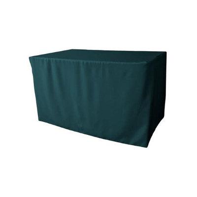 LA Linen TCpop-fit-48x30x30-TealDrkP82 1.8 lbs Polyester Poplin Fitted Tablecloth Dark Teal