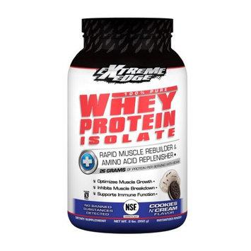 Bluebonnet Nutrition Extreme Edge Whey Protein Isolate Cookies & Cream Flavor Bluebonnet 2 lb Powder