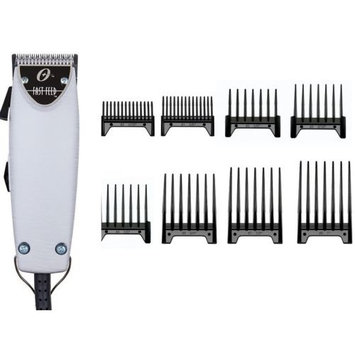 Oster Brushed Aluminum Fats Feed + 8-pc Comb Set