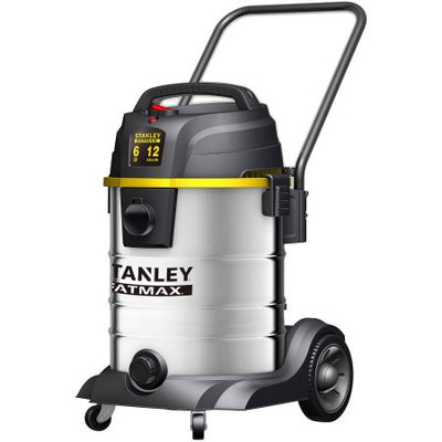 Stanley Fatmax SL18501-12B Wet Dry Vacuum 12 Gallon 6 Peak HP Stainless Steel
