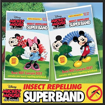 CLASSIC DISNEY SUPERBAND: All Natural Insect Repelling Wristband with Mickey and Minnie Mouse charms (5)