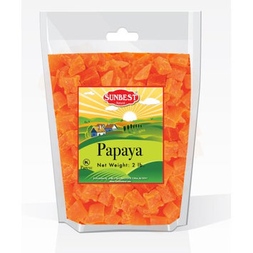 SUNBEST Dried Papaya Chunks 2LBS