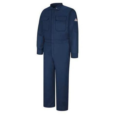 BULWARK Flame-Resistant Coverall,Navy,42 CLB6NV RG 42