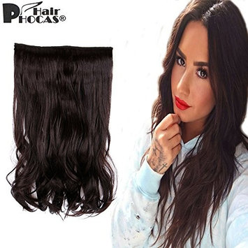 HairPhocas 15inch Secret Curly Wavy Hair Extension Synthetic Hairpieces Hidden Wire Adjustable Transparent Wire for Women